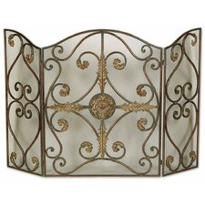 Jerrica 3 Panel Metal Fireplace Screen