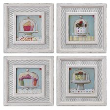 "4 Piece Cupcakes by Grace Feyock Wall Art Set - 12""x12"""