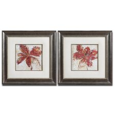 Floral Gesture 2 Piece Framed Painting Print Set