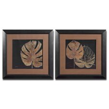 Black Balazo 2 Piece Framed Painting Print Set