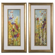 Merriment Floral Panel 2 Piece Framed Painting Print Set