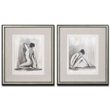 2 Piece Sum-e Figures Framed Wall Art Set