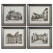English Cottage by Grace Feyock 4 Piece Framed Photographic Print Set