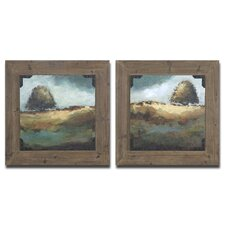 Trees of Love 2 Piece Framed Original Painting Set
