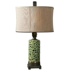 "Fiora 31.25"" H Table Lamp with Oval Shade"