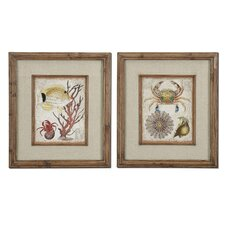 Tropical Waters 2 Piece Framed Painting Print Set