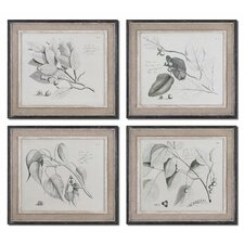"<strong>Uttermost</strong> Sepia Leaf Study by Grace Feyock Wall Art - 21"" x 24"" (Set of 4)"