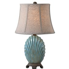 "Seashell 22.75"" H Table Lamp with Oval Shade"