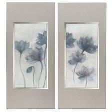 Prussian Grace Floral 2 Piece Framed Painting Print Set