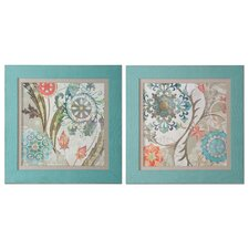 Royal Tapestry 2 Piece Framed Painting Print Set