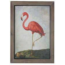 Pink Flamingo Framed Original Painting