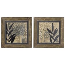 New World 2 Piece Framed Original Painting Set