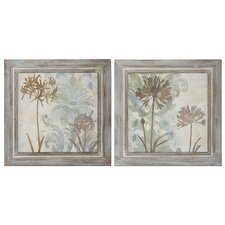 Floral Oasis 2 Piece Framed Original Painting Set