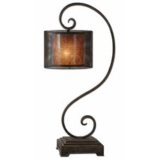 "Dalou Scroll 37.5"" H Table Lamp with Drum Shade"