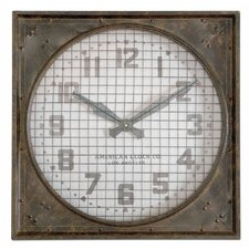 "<strong>Uttermost</strong> Oversized 26"" Warehouse Wall Clock"