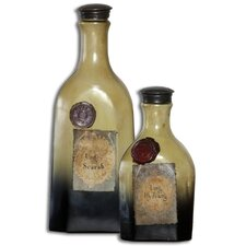 2 Piece Matlal Decorative Bottle Set