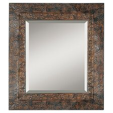 Jackson Framed Wall Mirror in Rustic Brown