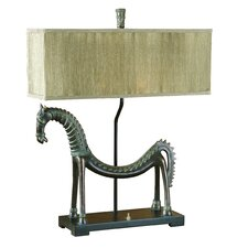 "Tamil Horse 30"" H Table Lamp with Rectangular Shade"