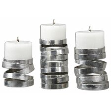 3 Piece Tamaki Metal Candlestick Set