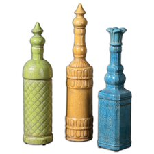 3 Piece Jonte Decorative Bottle Set
