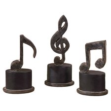 3 Piece Music Note Sculpture Set