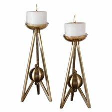 2 Piece Andar Candlestick Set