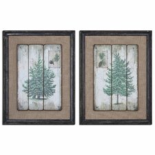 Evergreens by Grace Feyock 2 Piece Framed Graphic Art Set
