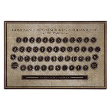 Antique Keyboard Vintage Advertisement Plaque