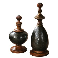 Javini 2 Piece Decorative Urn Set