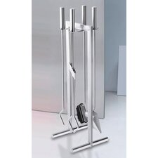 Calore 4 Piece Stainless Steel Fire Accessories Set
