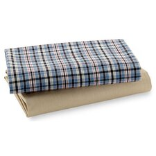 Boys Stripes and Plaids Crib Fitted Sheet (Set of 2)