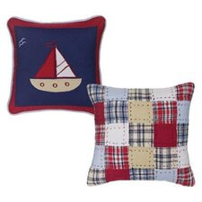Boys Stripes and Plaids Decorative Pillow (Set of 2)