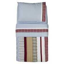 <strong>Bacati</strong> Boys Stripes and Plaids 4 Piece Toddler Bedding Set