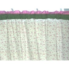 Summer Garden Cotton Rod Pocket Curtain Single Panel
