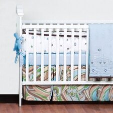 <strong>Bacati</strong> Retro Flowers 3 Piece Crib Bedding Set
