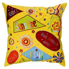 <strong>Bacati</strong> Sunshine Embroidered Pillow