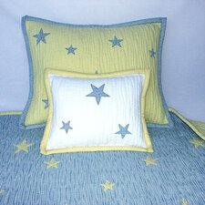 Star is Born Quilted Standart Sham in Blue and Yellow