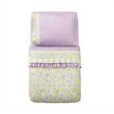Flower Basket Lilac and Green Toddler Bedding Collection