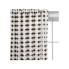 <strong>Bacati</strong> Reverse Dots Cotton Rod Pocket Curtain Single Panel