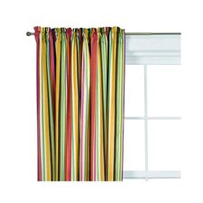 Dots and Stripes Spice Cotton Rod Pocket Curtain Panel