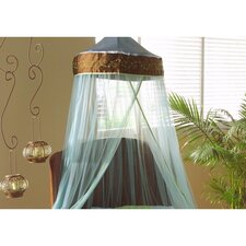 "<strong>Bacati</strong> Botanika Brown, Blue and Lime Bed Canopy 96"" Drop"