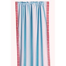 <strong>Bacati</strong> Boys Stripes Cotton Rod Pocket Curtain Single Panel
