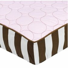 <strong>Bacati</strong> Quilted Circles Changing Pad Cover in Pink and Chocolate