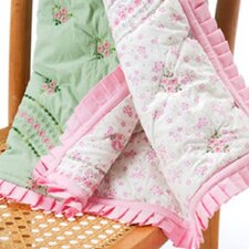 Summer Garden Cotton Toddler Throw
