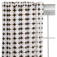 Reverse Dots Cotton Rod Pocket Curtain Single Panel