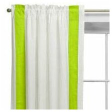 Valley of Flowers Cotton Rod Pocket Curtain Panel