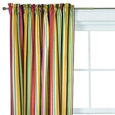 Dots and Stripes Spice Cotton Rod Pocket Curtain Single Panel