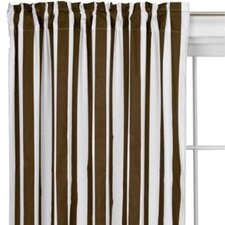 Stripes Cotton Rod Pocket Curtain Panel