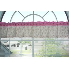 Summer Garden Cotton Rod Pocket Tailored Curtain Valance