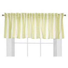<strong>Bacati</strong> Flower Basket Cotton Rod Pocket Tailored Curtain Valance